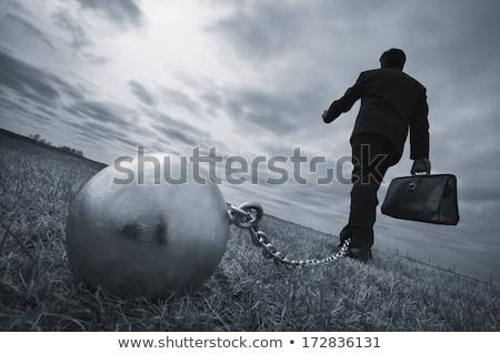 ビジネスマン · チェーン · ボール · 3D · ビジネス · 金属 - ストックフォト © 6kor3dos