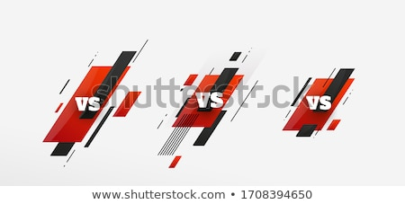 Duel silhouette illustration deux Photo stock © rudall30