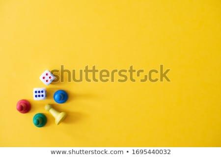 Tábla számítógépes játékok darabok fa deszka kettő építkezés Stock fotó © Mps197
