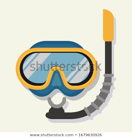 Diving maschera snorkel primo piano blu giallo Foto d'archivio © nito