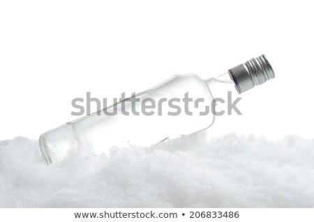 üveg vodka jég fehér közelkép kilátás Stock fotó © dla4