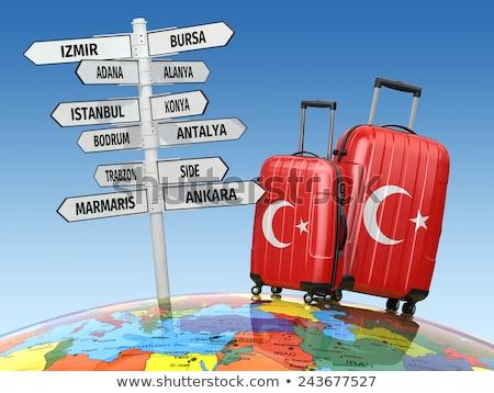 Turisztikai feliratok Törökország különböző égbolt város Stock fotó © Kuzeytac