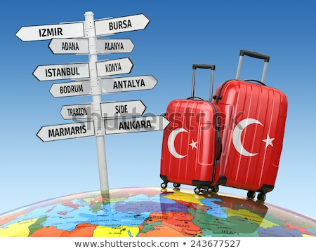 Touristic Directional Signs In Bursa, Turkey Stock photo © Kuzeytac