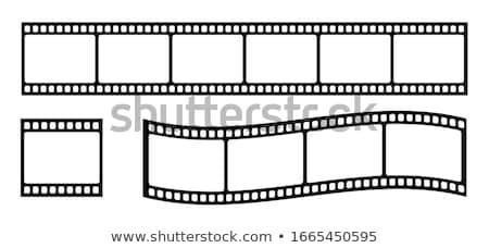 soyut · sinema · turuncu · film · makarası · arka · plan · çerçeve - stok fotoğraf © loopall
