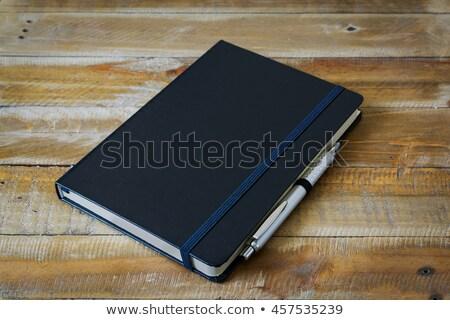 Pióro zamknięte dziennik odizolowany biały biuro Zdjęcia stock © PetrMalyshev