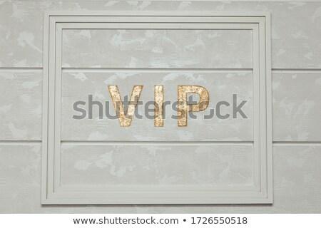 Dourado vip abreviatura isolado branco cor Foto stock © tuulijumala
