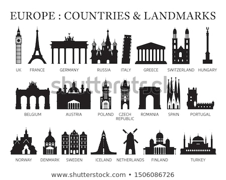 landmarks vector silhouettes  stock photo © Slobelix