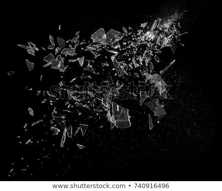ガラス · シャープ · ピース · 黒 · 抽象的な · デザイン - ストックフォト © arsgera