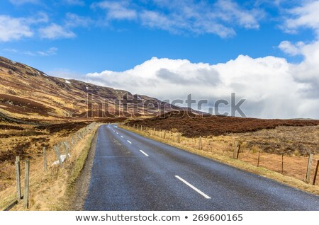 Highlands of Scotland narrow road in mountain landscape Stock photo © michaklootwijk