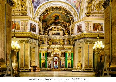 interior of saint isaacs cathedral in st petersburg stock photo © mahout