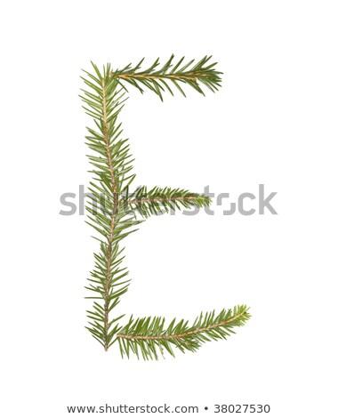 Enfeitar letra i isolado branco árvore inverno Foto stock © gemenacom
