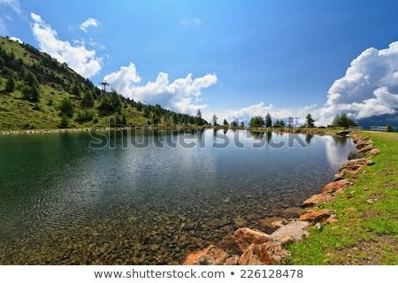 doss dei gembri lake in pejo valley stock photo © antonio-s