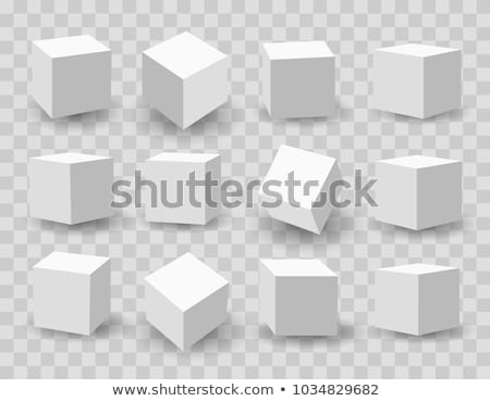 3d cube isolated on white stock photo © MikhailMishchenko