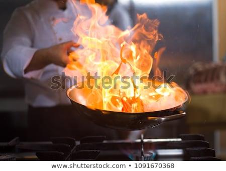 Catering stufa alcol caldo piatto verde Foto d'archivio © w20er
