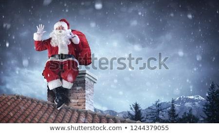 Navidad · avión · dibujado · a · mano · ilustración · cielo - foto stock © adrenalina
