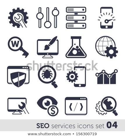 Seo ikon szett internet fejlesztés ikon gyűjtemény üzlet Stock fotó © Genestro