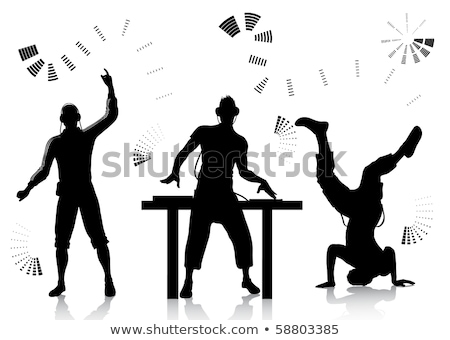 Dj And Clubber Silhouettes Stock photo © illustrart