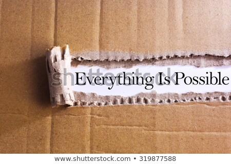 attitude is everything torn paper concept stock photo © ivelin