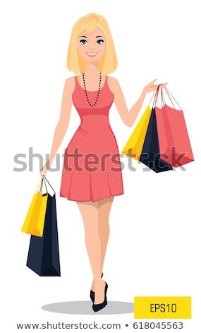 блондинка девушки торговых улыбаясь привлекательный красивой Сток-фото © NeonShot