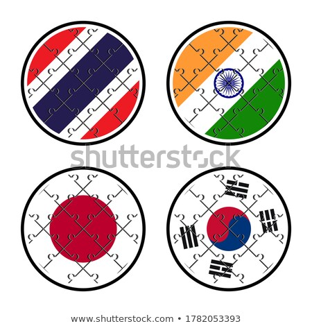 India and South Korea Flags in puzzle Stock photo © Istanbul2009
