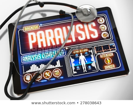 Paralysis on the Display of Medical Tablet. Stock photo © tashatuvango
