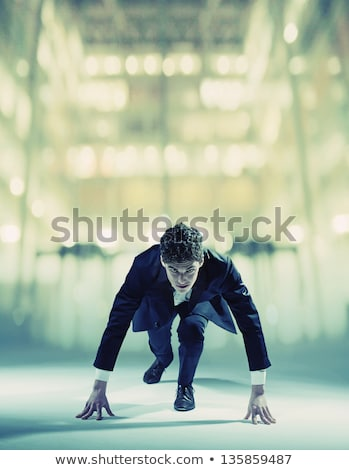 Focused businessman ready to race Stock photo © wavebreak_media