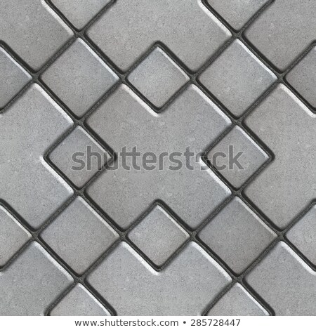 Stock photo: Gray Paving  Slabs as Large Rhombuses with a Cross in the Center.