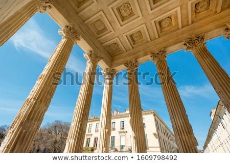 ancient roman Maison Carree in Nimes, France Stock photo © nito
