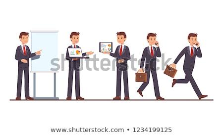 Empresario papel maleta blanco traje Foto stock © wavebreak_media