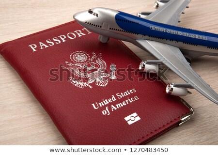 podróży · plany · dokumentów · paszport · linia · lotnicza · bilety - zdjęcia stock © highwaystarz