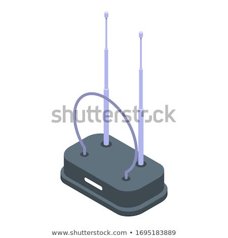 Radio senal dorado vector icono diseno Foto stock © rizwanali3d