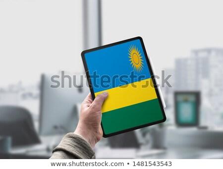 Comprimé Rwanda pavillon image rendu Photo stock © tang90246
