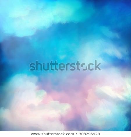 Stock fotó: Napfelkelte · égbolt · festmény · vektor · vízfesték · absztrakt