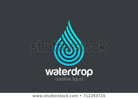 Vector logo-ontwerp sjabloon abstract Blauw waterdruppel Stockfoto © netkov1