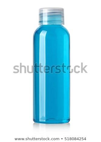 shampoo · fles · geïsoleerd · witte · haren · Blauw - stockfoto © tetkoren