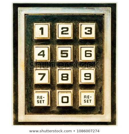Sajtó gomb hozzáférés fekete billentyűzet számítógép Stock fotó © tashatuvango