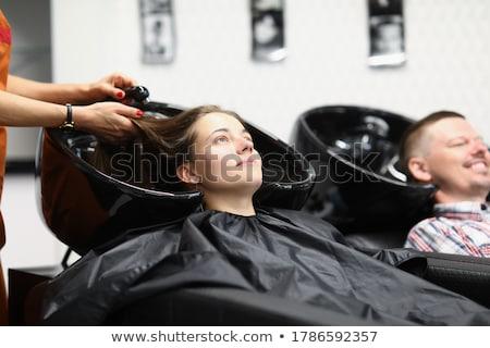 Mosás ügyfelek haj fodrászat nő boldog Stock fotó © wavebreak_media