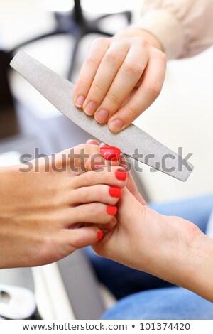 takarítás · vásárlók · körmök · manikűrös · nő · férfi - stock fotó © wavebreak_media
