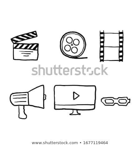 Film Reel стороны обратить кино икона отлично Сток-фото © netkov1