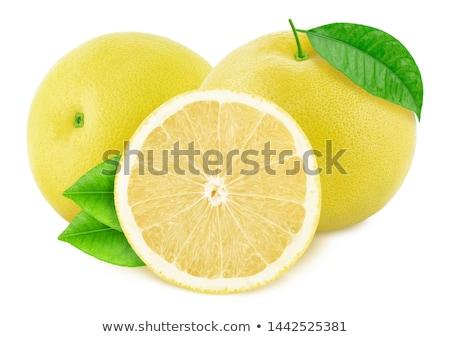 Lédús grapefruit izolált fehér szeletek textúra Stock fotó © tetkoren
