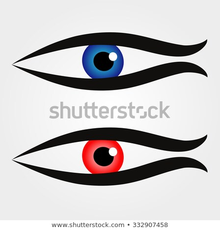 Abstract fish with large eyeball inside  Stock photo © shawlinmohd