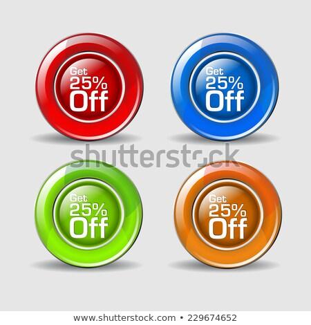 25 százalék citromsárga vektor ikon gomb Stock fotó © rizwanali3d