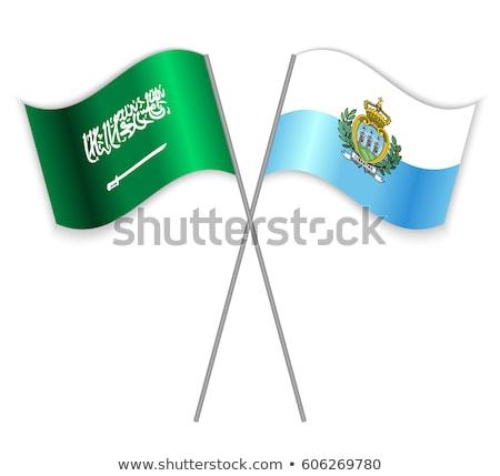 Szaúd-Arábia San Marino zászlók puzzle izolált fehér Stock fotó © Istanbul2009