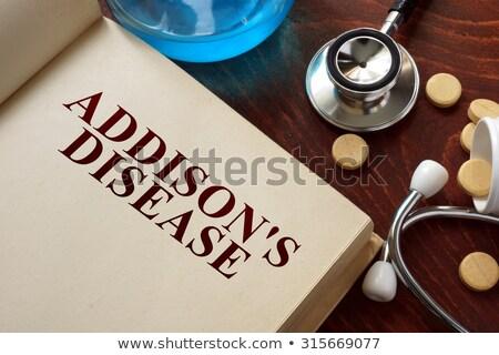 Diagnosis - Addison's disease. Medical Concept. Stock photo © tashatuvango