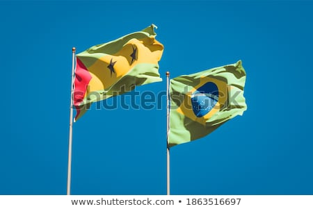Brazil and Sao Tome and Principe Flags Stock photo © Istanbul2009