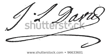 imza · bağbozumu · oyulmuş · örnek · sözlük · sözler - stok fotoğraf © morphart