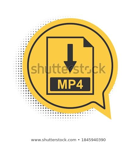 Pobrania wideo żółty wektora ikona projektu Zdjęcia stock © rizwanali3d