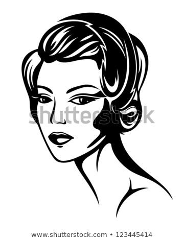 Photo stock: Vogue Style Retro Portrait - 30s Lady