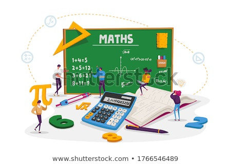 Leren wiskunde schoolbord citaat Stockfoto © tashatuvango