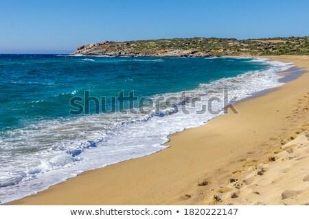 панорамный · пляж · Корсика · мнение · драматический - Сток-фото © Joningall
